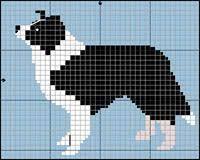 Border Collie Knitting Chart Border Collie Dog Free Cross Stitch Knitting Pattern