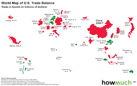 Us Trade Deficit Chart Infographic The World Map Of The U S Trade Deficit