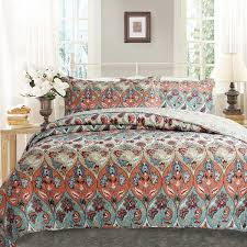 Bedspreads & Quilt Sets- Color_Multi & DaDa Bedding Bohemian Floral Paisley Garden Party Patchwork Quilted  Bedspread Set (LH1403) Adamdwight.com