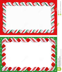 Labels With Border Christmas Labels Borders Blank Stock Illustration