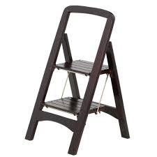 rockford series 2 step mahogany step stool ladder 225 lb load capacity type ii duty rating