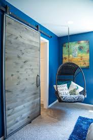 interior barn door in hall with sliding internal toronto closet designers and professional organizers