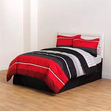bedspread full comforter set black red gray white rugby boys complete sets blofgyl stripe bedding piece bag home kitchen king navy quilt multi colored