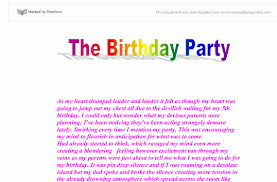 my th birthday party essay writing
