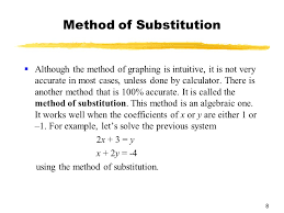 method of substitution