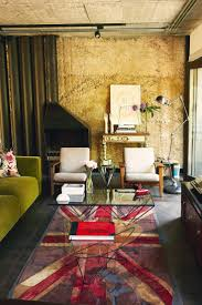 Love the distressed Union Jack rug.