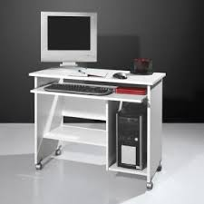 White computer desk Hutch Compact Computer Trolley In White With Rollers Furniture In Fashion Computer Desks Tables Workstations Uk Furniture In Fashion