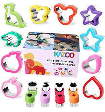 KAZOO 18 Piece Kids Food Shapes Cookie Cutter ... - Amazon.com