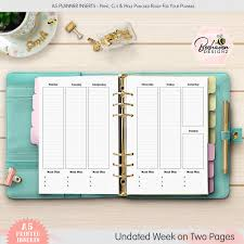 weekly meal planning for two printed weekly planner meal plan inserts make organising easier