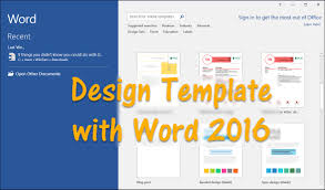 How To Design Template With Word 2016 Wikigain