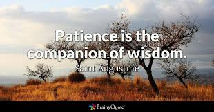 Saint Quotes Awesome Patience Is The Companion Of Wisdom Saint Augustine BrainyQuote