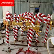 Outdoor Christmas Candy Cane Decorations Fiber Large Outdoor Christmas DecorationsGiant Candy Cane Buy 54
