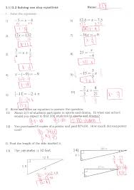solving 1 step equations worksheets systems of by substitution free one and two worksheet tes