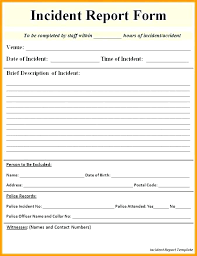 Incident Report Letter Template Generic Incident Report Template