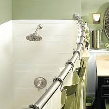 shower rods curved lovely decoration shower curtain rod curved gorgeous adjule brushed nickel bed bath beyond