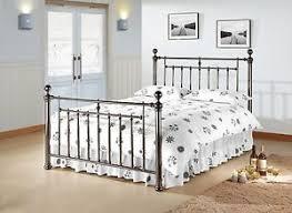 vintage metal bed frame. Fine Frame Image Is Loading AlexanderBlackNickelVintageMetalBedFrame4FT6 To Vintage Metal Bed Frame M