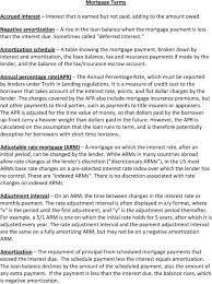 Arm Amortization Schedule Mortgage Terms Accrued Interest Interest That Is Earned But