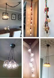 cluster pendant lighting. 219$ 7 Cluster Custom Any Colors - Chandelier Multi Pendant Lighting Modern  Rainbow Cloth Cords Industrial Pendant Light Ceiling Fixture Lamp Cluster Lighting