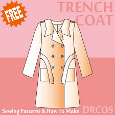 Trench Coat Pattern New Trenchcoat Sewing Patterns DRCOS Patterns How To Make