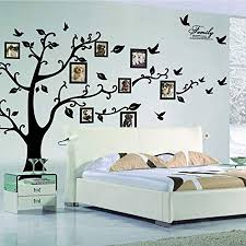 x large diy family tree wall art stickers removable vinyl black trees photo frames wall on large wall art stickers uk with x large diy family tree wall art stickers removable vinyl black