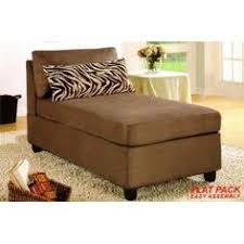 microfiber chaise lounge.  Chaise Microfiber Armless Chaise Lounge Chair With Pillow In Saddle With