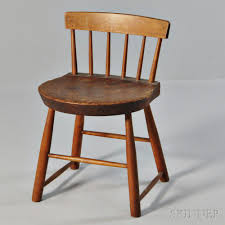 low back dining chairs. Shaker Brown-stained Pine And Maple Low-back Dining Chair, New Hampshire, Shaped Plank Seat, Spindle Back With Rectangular Crest Rail, Splayed Legs, Low Chairs L