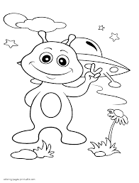 Alien At Earth Coloring Pages Outer Space Pinterest Coloring