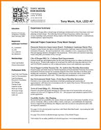 Landscaping Resume Examples Expert Professional Horticulture And