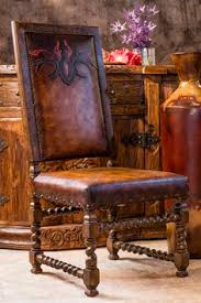 applique leather dining chair