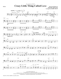 crazy little thing called love sheet music crazy little thing called love bass sheet music direct