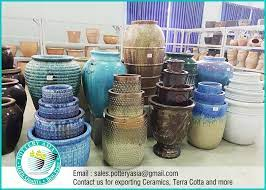 glazed ceramic garden planters