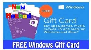 Microsoft Giftcard New Method Microsoft Gift Cards Microsoft Gift Card Redeem
