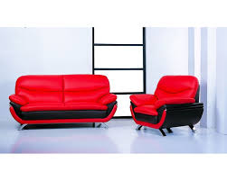 Red leather living room furniture Big Overstock Jonus Redblack Sofa Loveseat