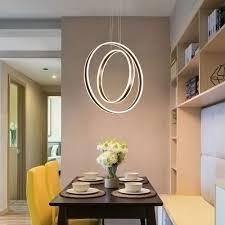 Led Pendelleuchte Modern Ring Design Aus Acryl Für Esszimmer