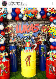 Avengers Theme Birthday Party Dessert Table And Decor Superheroes