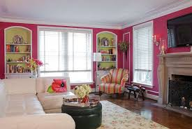view in gallery pink corsage on the walls gives the room a fun and colorful appeal design