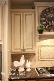 chalk paint kitchen cabinetsCeramic Tile Countertops Kitchen Cabinets Painted With Chalk Paint