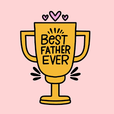 Premium Vector | <b>Best father ever</b> trophy