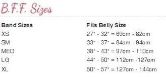 Belly Size Chart Belly Bandit B F F Cream 3 Sizes