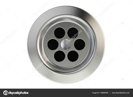 kitchen sink top view. Top View Of Kitchen Sink Drain, Round Plug Hole. 3D Rendering \u2014 Stock Photo S