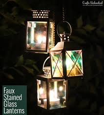 stained glass lanterns crafts unleashed 2