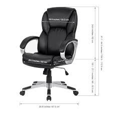 ergonomic mid back computer executive office chair seat height inches width depth white wood desk with