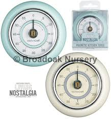 vintage retro style magnetic kitchen timer mechanical timer with bell alarm 1 of 1free