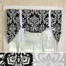 Damask Tie Regal Medallion Damask Tie Up Window Valance
