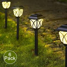 Amazon Prime Solar Garden Lights Solpex Solar Pathway Lights Outdoor Led Solar Garden Lights Waterproof Solar Landscape Lights For Lawn Patio Yard Garden Walkway 6 Pack