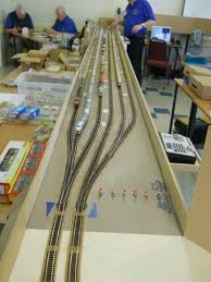 amrg n scale modular gallery one of the storage yard configurations six 12 through tracks