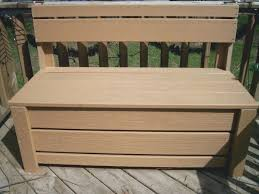 diy storage bench seat competent diy storage bench seat how build adding existing deck box plans