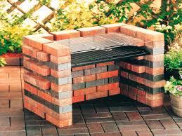 easy outdoor fire pit diy brick bbq grill designs brick