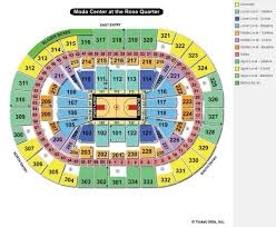 Rose Quarter Seating Chart With Rows Map Of The Moda Center Rose Bowl 3d Seating Chart Moda