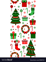 Merry Christmas And Happy New Year Vertical Border